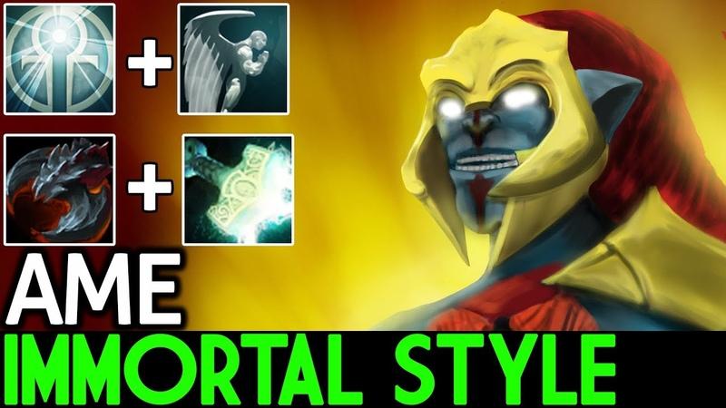 AME [Huskar] Immortal Style with Omniknight 7.18 Dota 2