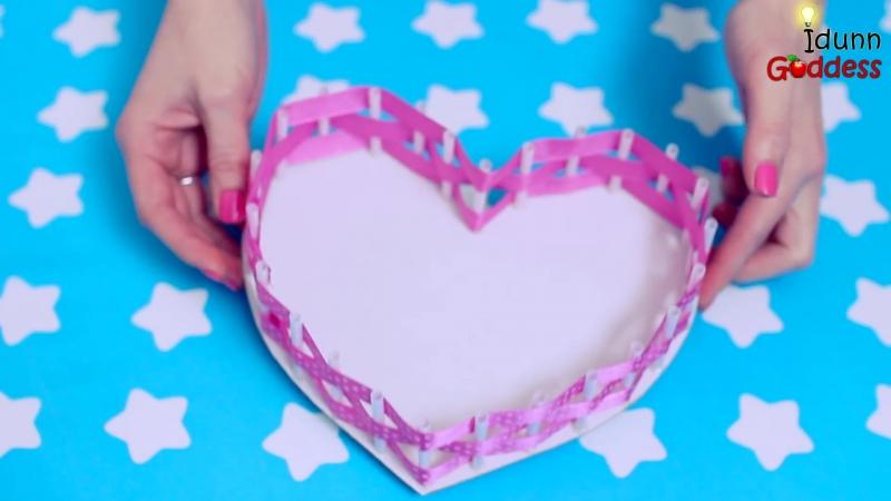 Делаем звезду, сердце и круглую корзину с помощью питьевой соломинки и ленты