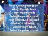 Zac Efron (Troy Bolton) - Scream (Instrumental Karaoke wLyrics on screen) HQ