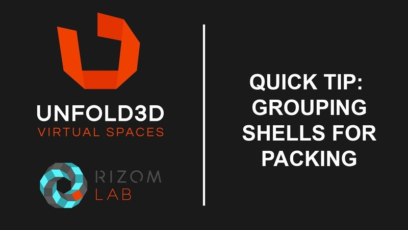 Unfold 3D 10 VS Quick Tip - Grouping Shells for Packing