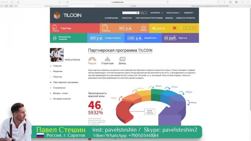 TILCOIN Новый Лучший обзор компании 78000 рублей за 2 недели