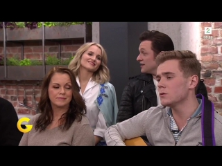 Tarjei and the Grease cast on God Morgen Norge + Tarjei singing 'Magiske toner'