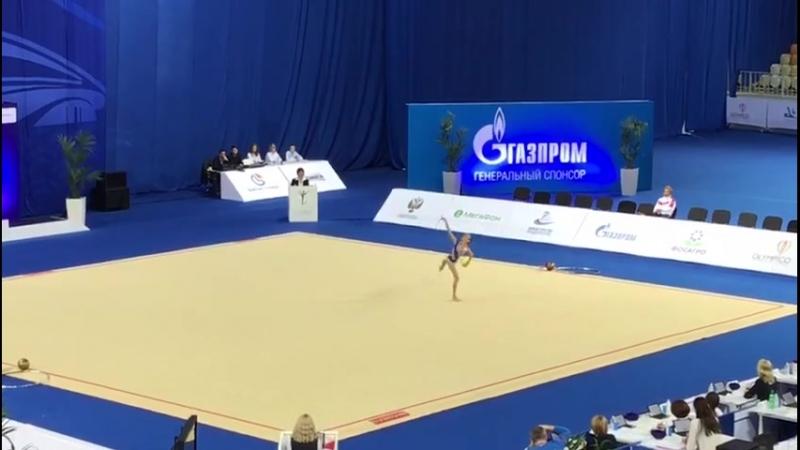Александра Скубова мяч (вне конкурса) Чемпионат России 2018