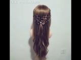 Красивое плетение, оформление волос
