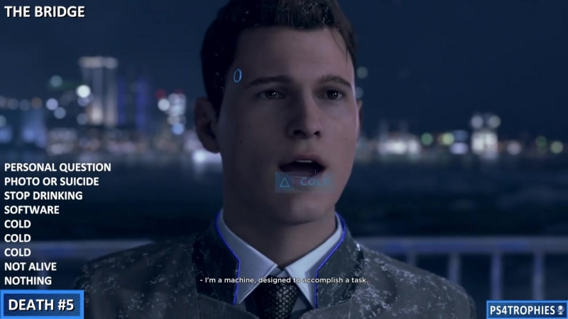 [PS4Trophies] Detroit Become Human - All Connor Death Opportunities (I'll Be Back Trophy) Everyone Dies Guide
