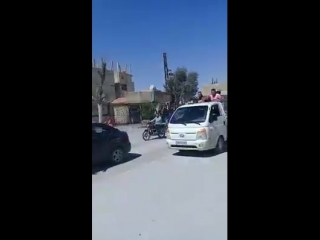 Жители города Джеруд, в Восточном Каламуне, празднуют освобождение от терроризма