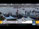 Des embarcations de pêche palestiniennes quittent le port de Gaza pour tenter de briser le blocus israélien