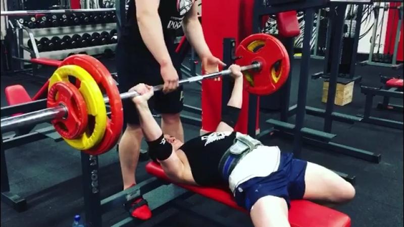 Илья жмёт 110 кг Спортивный Центр Росич росич33 rosich33 я росич