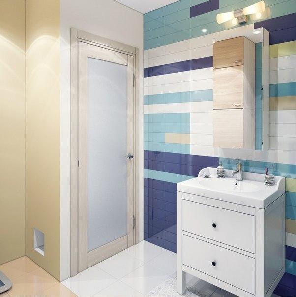 Свежий дизайн интерьера ванной комнаты