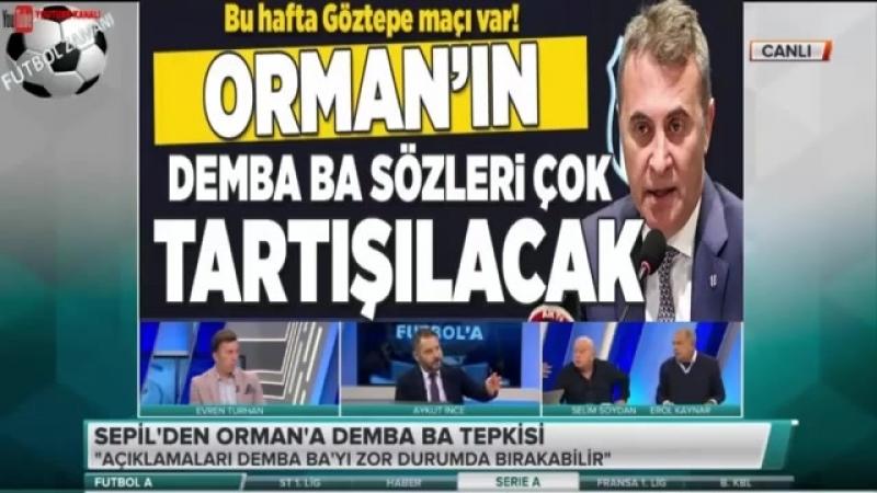 Beşiktaş Futbol A - Fikret Orman dan Gündem Yaratan Demba ba Açıklamaları 5 NİSAN 2018