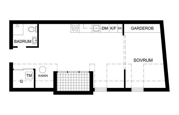 Скандинавская студия-мансарда 37 м.