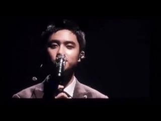 small compilation of kyungsoo's little smile and clap whenever he ends his for life solo
