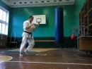 Работа на мешке в традиционном каратэ