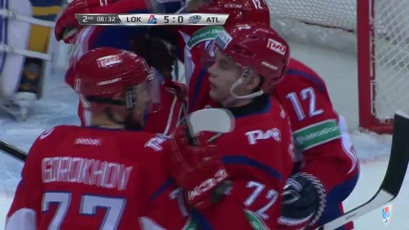 Моменты из матчей КХЛ сезона 14/15 • Гол. 5:0. Эмиль Галимов (Локомотив) довёл счёт до разгромного 25.12