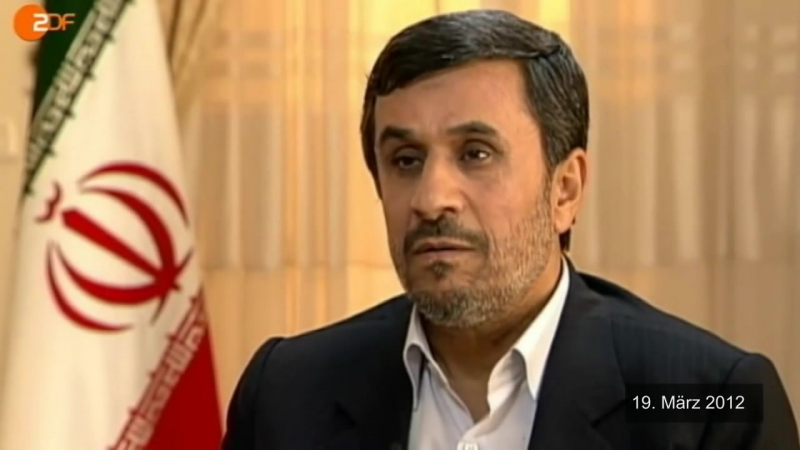 Ahmadinedschad über Israel und den Holocaust (ZDF, 19.03.2012)