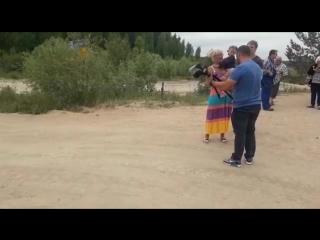 Протестующие против свалки в Щелканово пригнали БТР