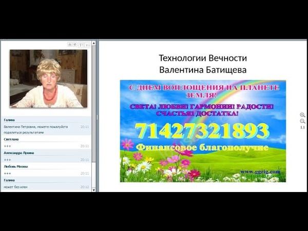 2018-08-13 Работа с будущим. Валентина Батищева