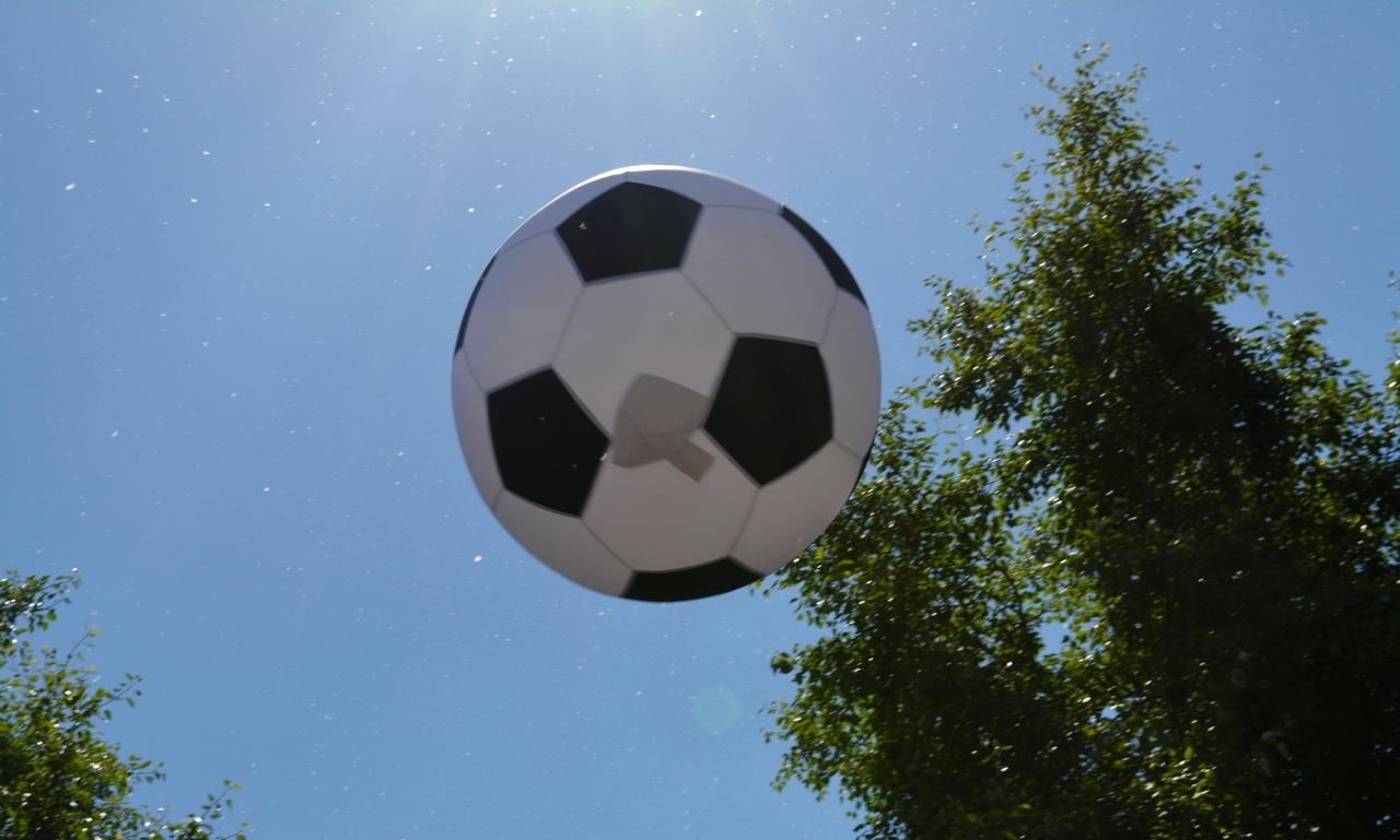футбол во дворе