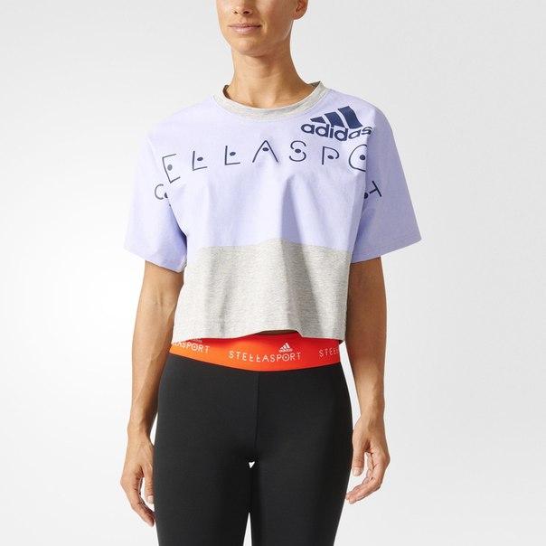 Укороченная футболка adidas STELLASPORT