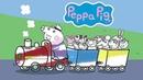 Раскраска Свинка Пеппа Паровозик дедушки Свина Peppa Pig Coloring Book