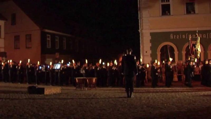 Церемониал Großer Zapfenstreich в честь 160-летия добровольной пожарной охраны г. Айсфельда