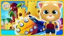 Говорящий Том Аквабайк 2 Гоняем на воде и строим Песчаный замок Джинджера на Kids PlayBox