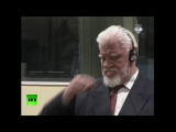 RAW: Bosnian Croat war criminal Praljak drinks poison at Hague hearing