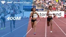 Salwa Eid Naser Wins Women's 400m - IAAF Diamond League Oslo 2018