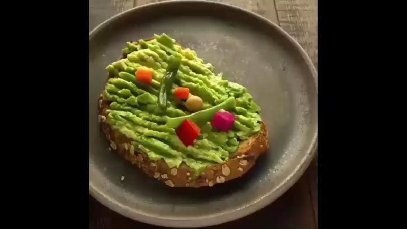 Быстрый рецепт тоста с овощами » Freewka.com - Смотреть онлайн в хорощем качестве
