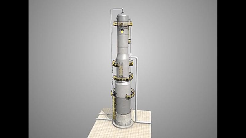 Ректификационная колонна и принцип её работы.