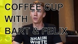 coffee cup with Bart Swings and Felix Rijhnen (pascal briand vlog 161)