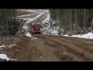 Лесовоз МАН 6х6. Автомобиль-сортиментовоз MAN 6X6 timber