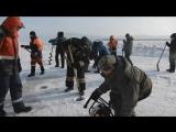 Подготовка проруби на Амуре для массовых купаний на Крещение 17.01.18