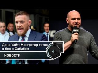 Дана Уайт: Макгрегор готов к бою с Хабибом, несмотря на долгий перерыв   FightSpace