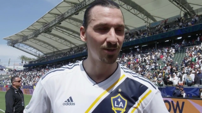 Zlatan Ibrahimovic debut in LA Galaxy 31 march 2018 [POST GAME INTERVIEW]