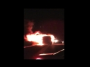 AST На трассе Астрахань Элиста Ставрополь сгорел рейсовый автобус ВИДЕО