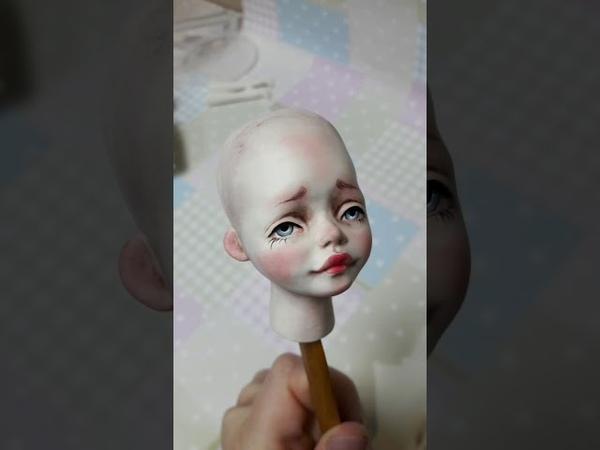 Кукла из флюмо. Часть 2. Роспись, кракелюр.
