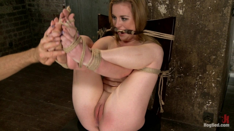[Hogtied.com / Kink.com] Jessie Parker (Horny 18 Year Old Slut Teased and Orgasmed in Tight Rope! / 07-11-2013) [2013 г., BDSM,