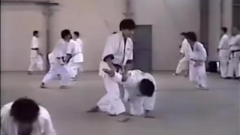Тренировка японской университетской сборной. Отработка 17 базовых техник Томики айкидо.