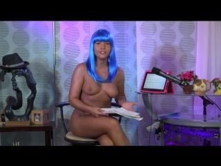 Jenny scordamaglia in the blue wig