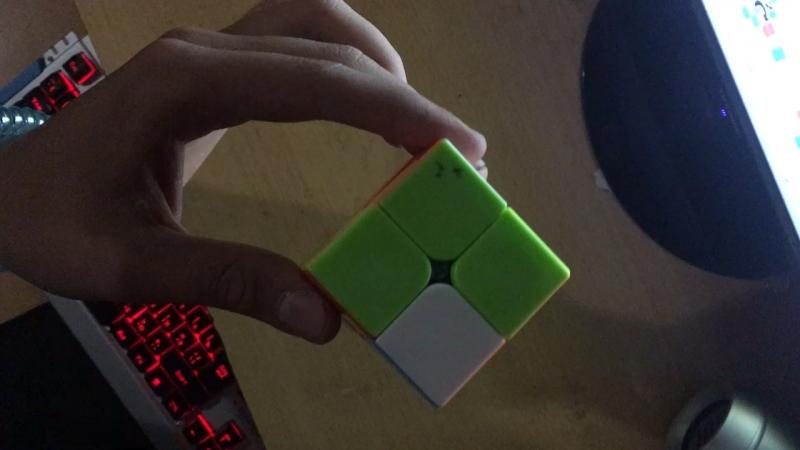 собрать кубик рубик 2 на 2 за 15 сек