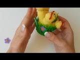 Easter chicks from gloves_ craft tutorial _ Пасхальный декор – цыплята из перчаток своими руками