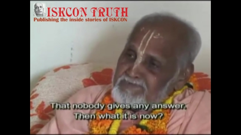 Interview with Puri Maharadja Srila Prabhupada's Godbrother Vrindavan 23 11 1999