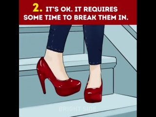 5 stages of wearing high heels 👠