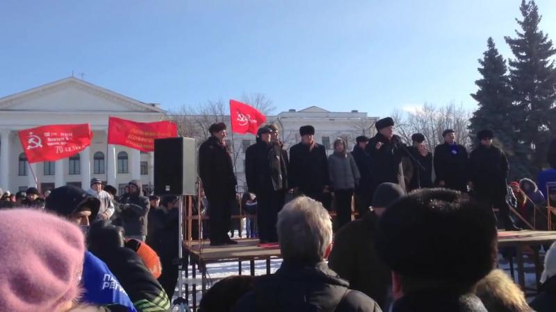 Краматорск 25 января 2014 Антимайдан возле горисполкома