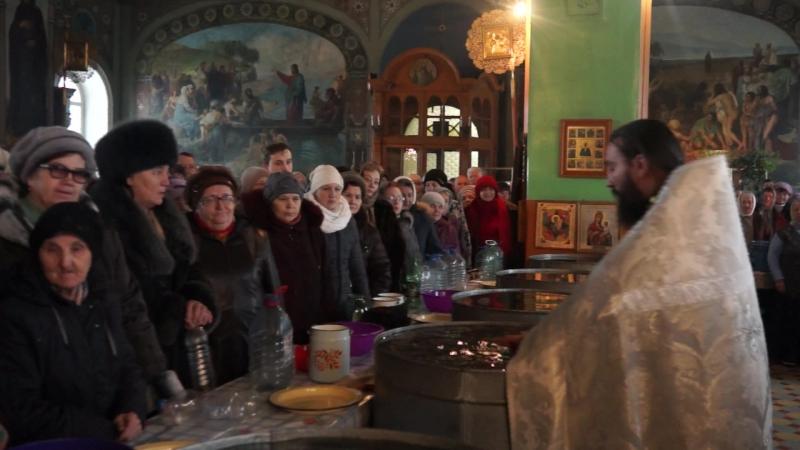 Великое освящение воды в Тумском храме Пресвятой Троицы 18 января 2018 года