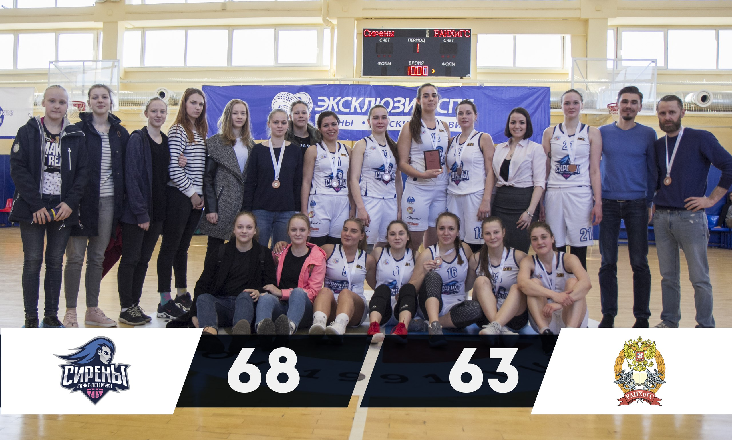 БК «Сирены» - Бронзовые призёры Высшего Дивизиона Чемпионата Санкт-Петербурга 2018