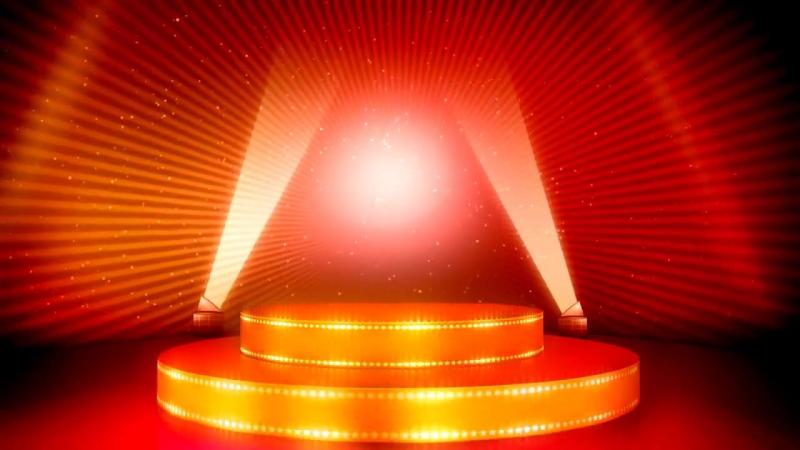 Футаж сцена и прожекторы HD