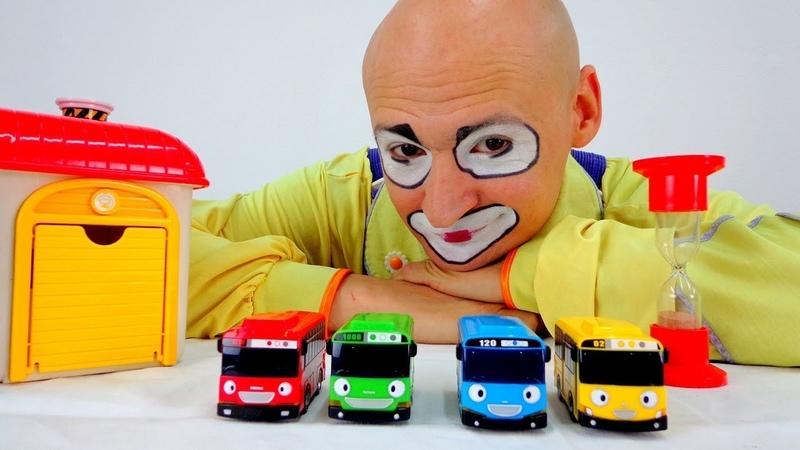 Giochi per bambini- Avventure di Clown e Tayo Toys Cars