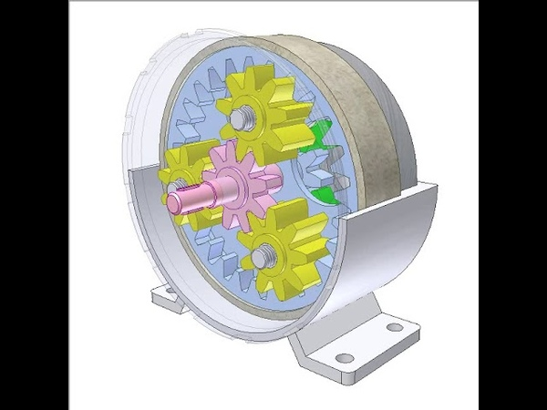 Coaxial gearbox 1